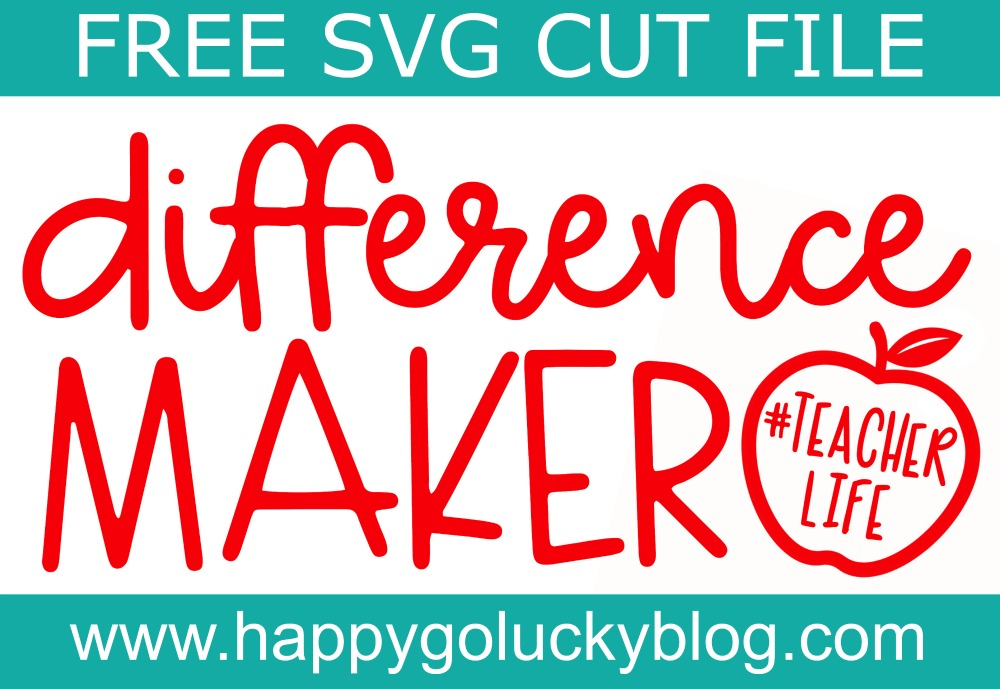 Difference Maker SVG Cut File