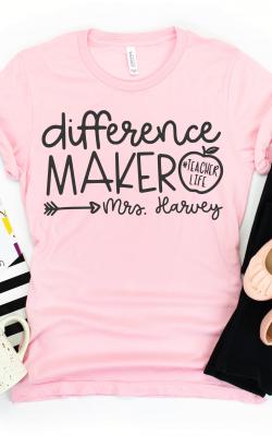 Difference Maker Teacher Shirt