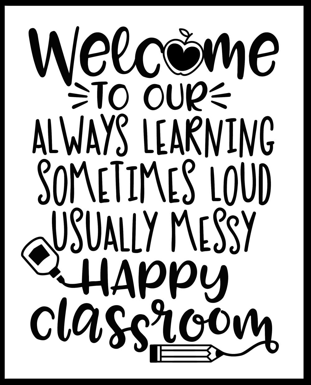 Happy Classroom Free Printable