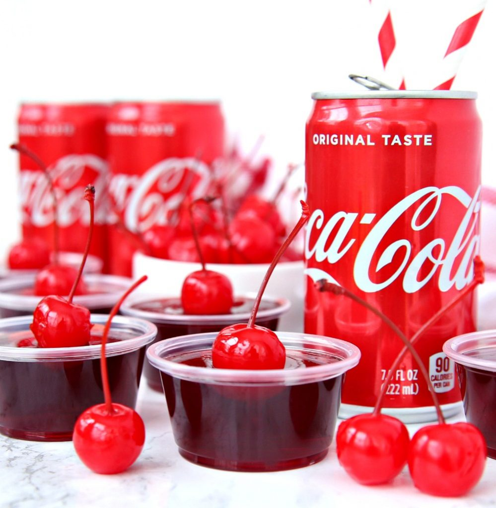 Rum And Cherry Coke Jello Shots