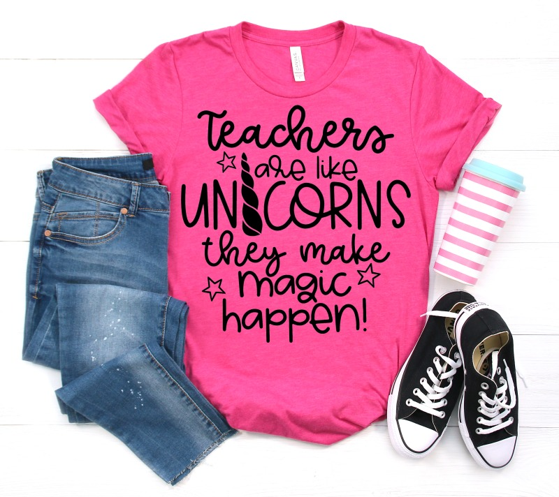 Teachers are like Unicorns they make magic happen free svg cut file
