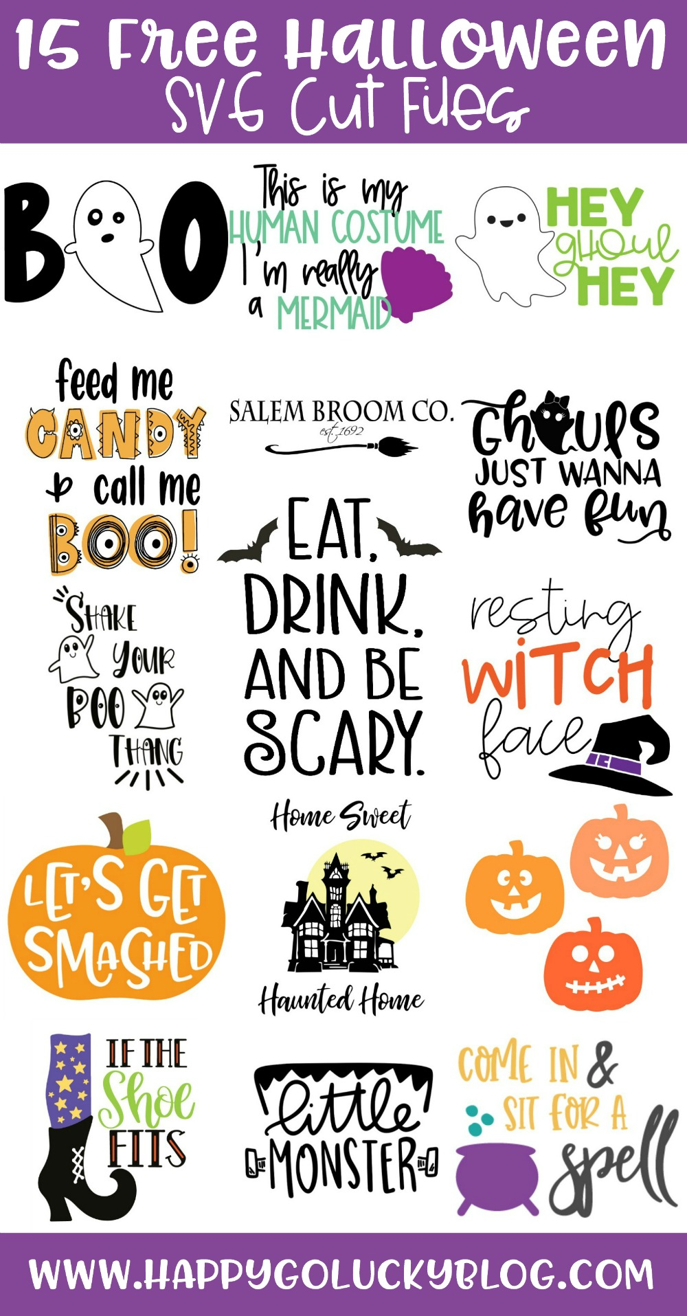 Fifteen Free Halloween SVG Cut File Collection