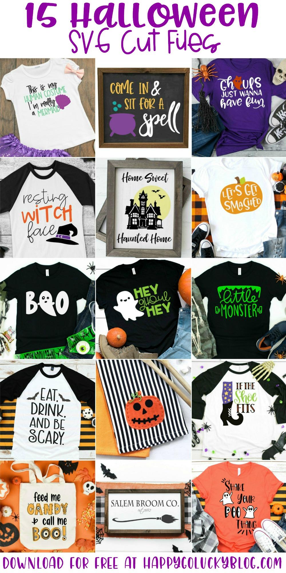Fifteen Free Halloween SVG Cut Files