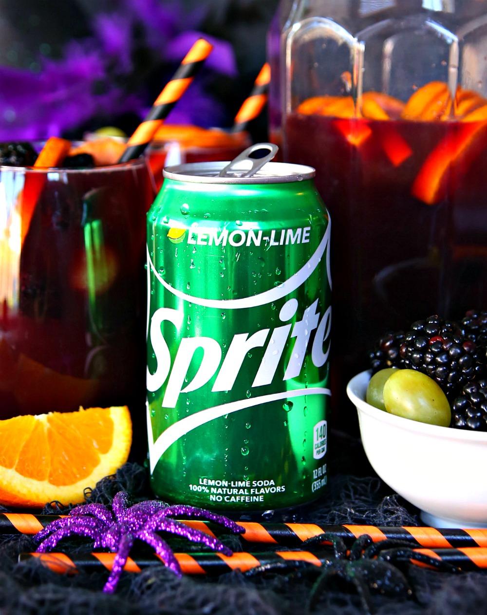 Halloween Sangria with Sprite