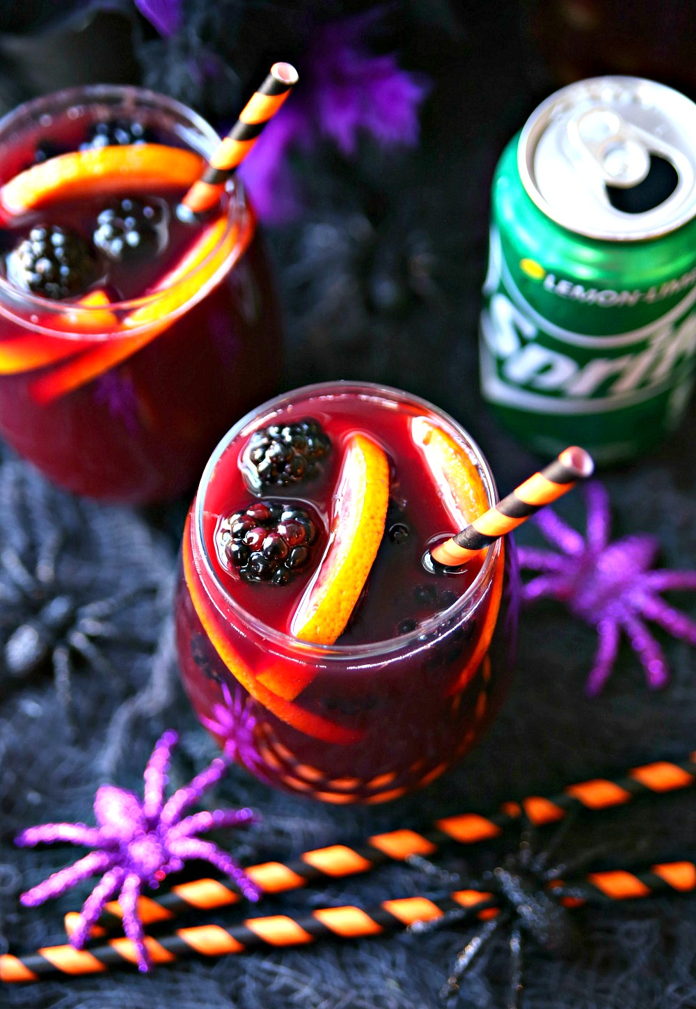 This Halloween Sangria is an easy make-ahead cocktail perfect for all your spooktacular Halloween festivities.