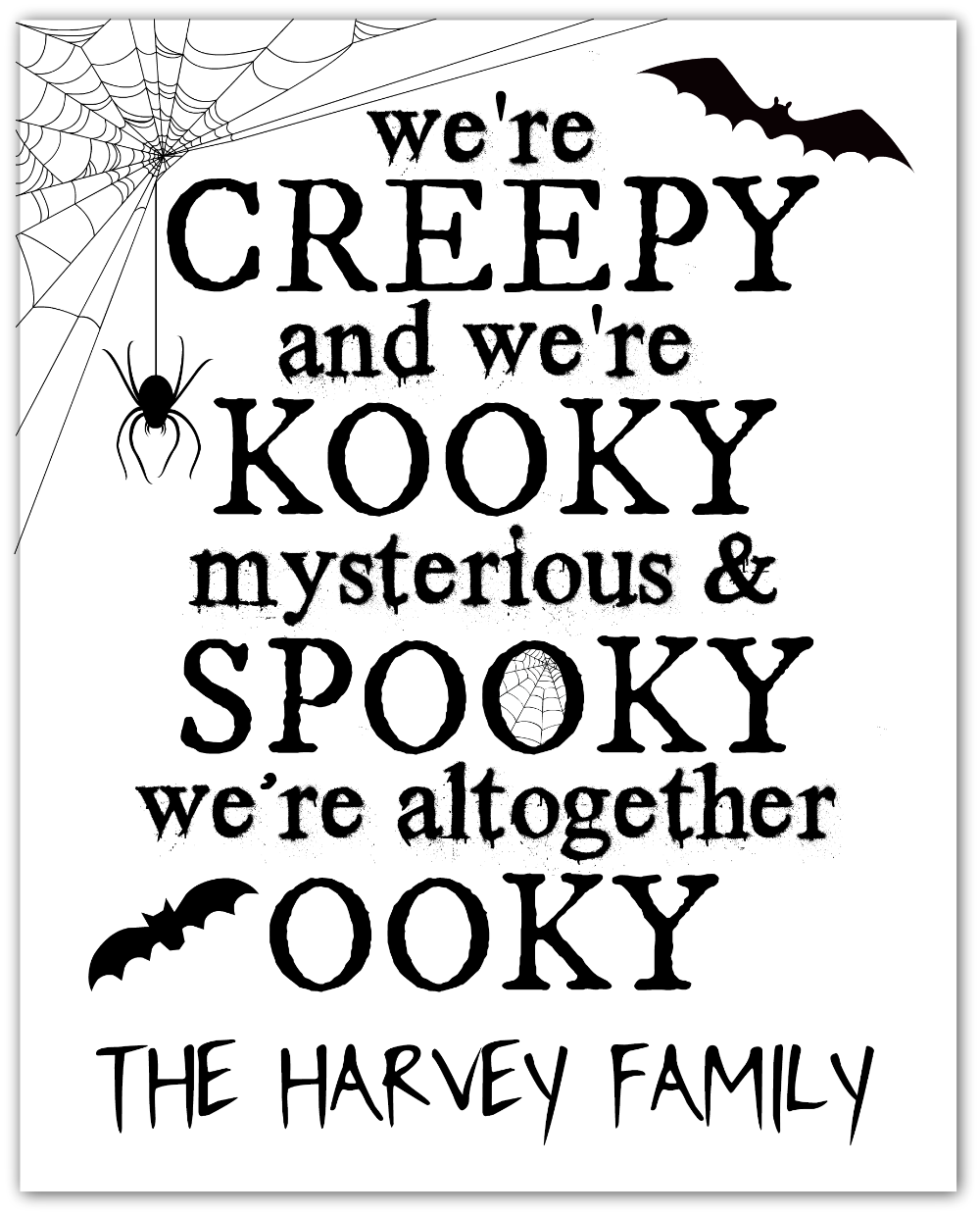 Addams Family Free Halloween Printable