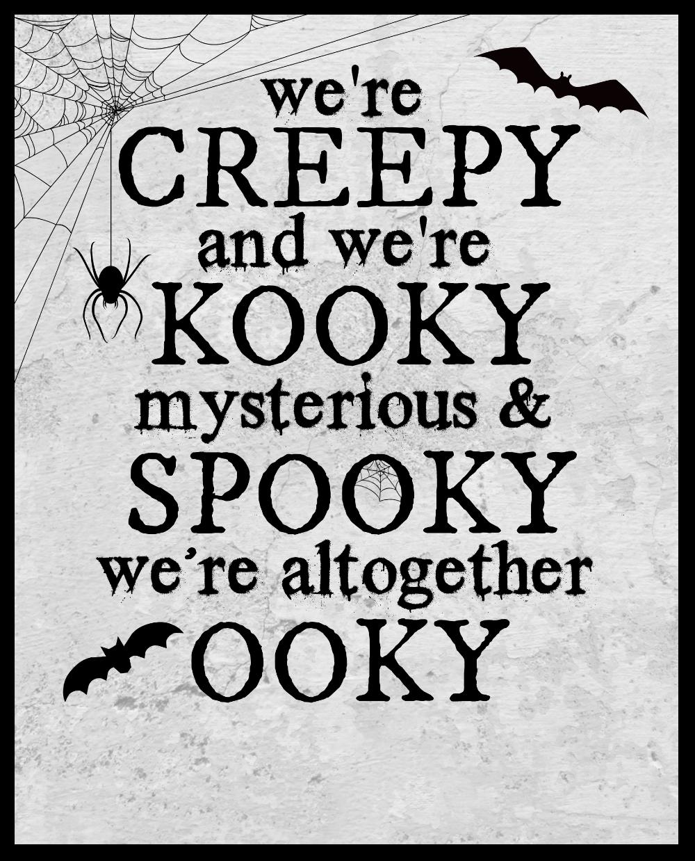 Free Addams Family Halloween Printable Kara Creates