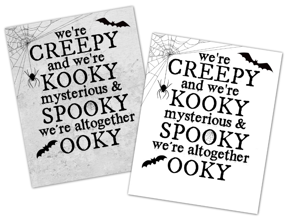 Free Addams Family Halloween Printable Easy to Personalize
