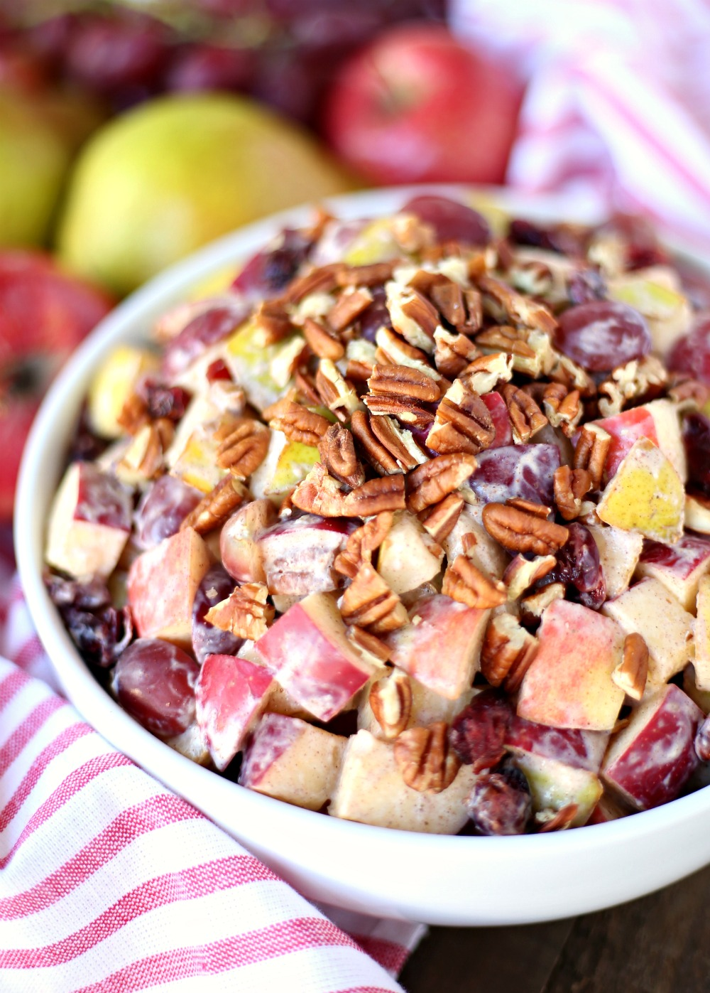 Autumn Fruit Salad with Apples, Pears, and Grapes