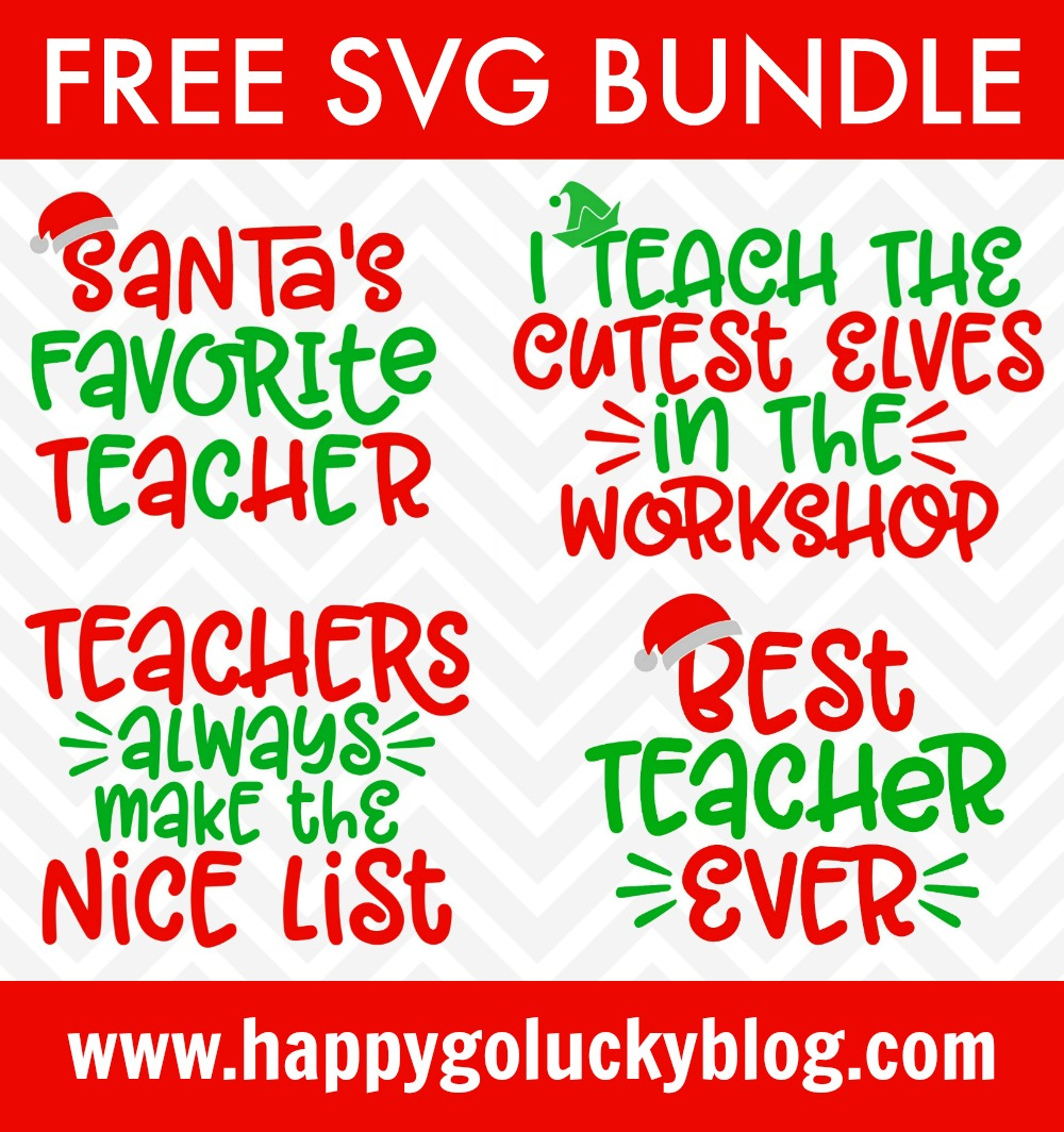 Christmas Teacher SVG Bundle