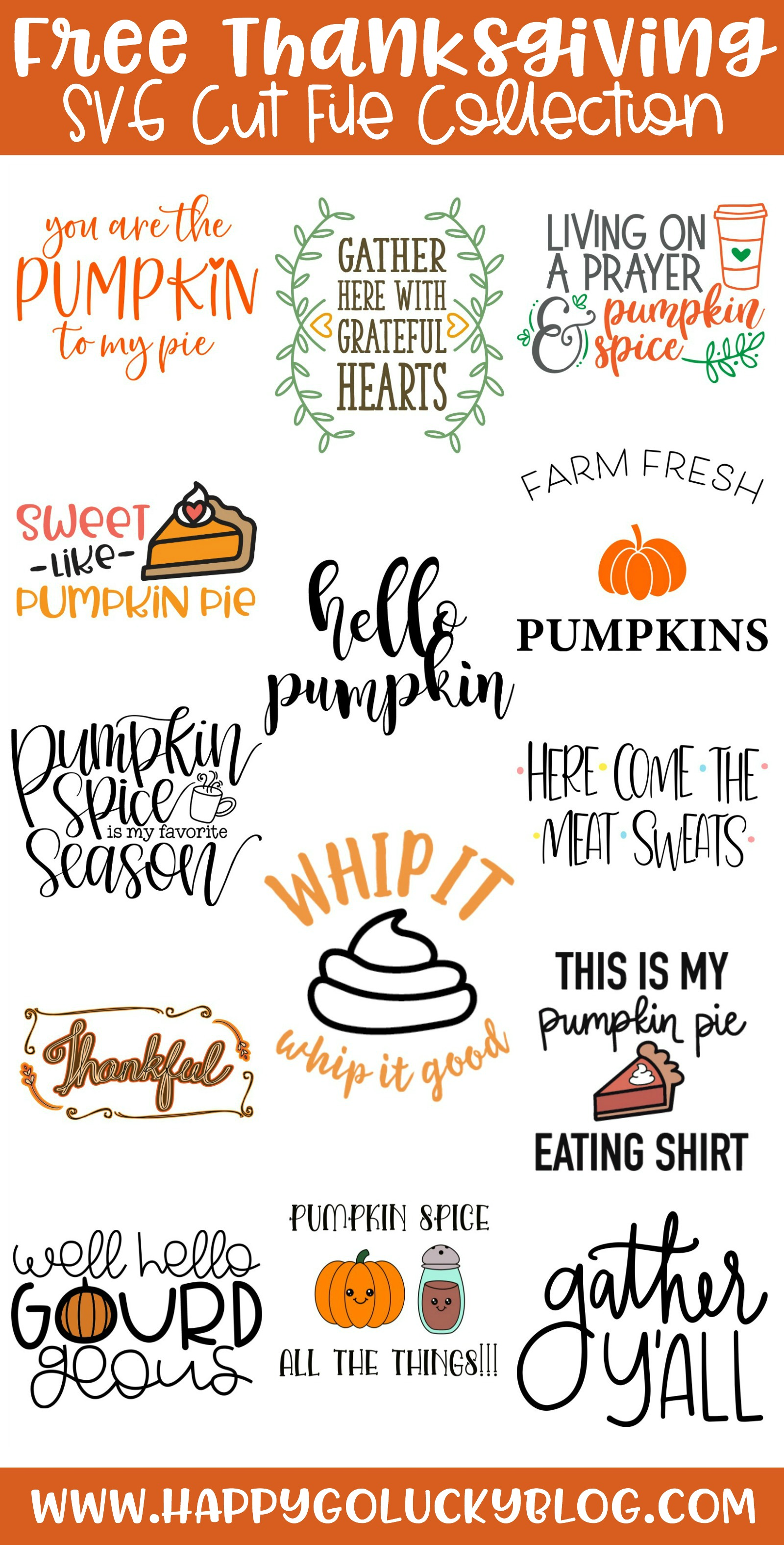Free Thanksgiving SVG Cut File Collection