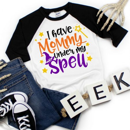 Halloween Shirt I have Mommy Under My Spell