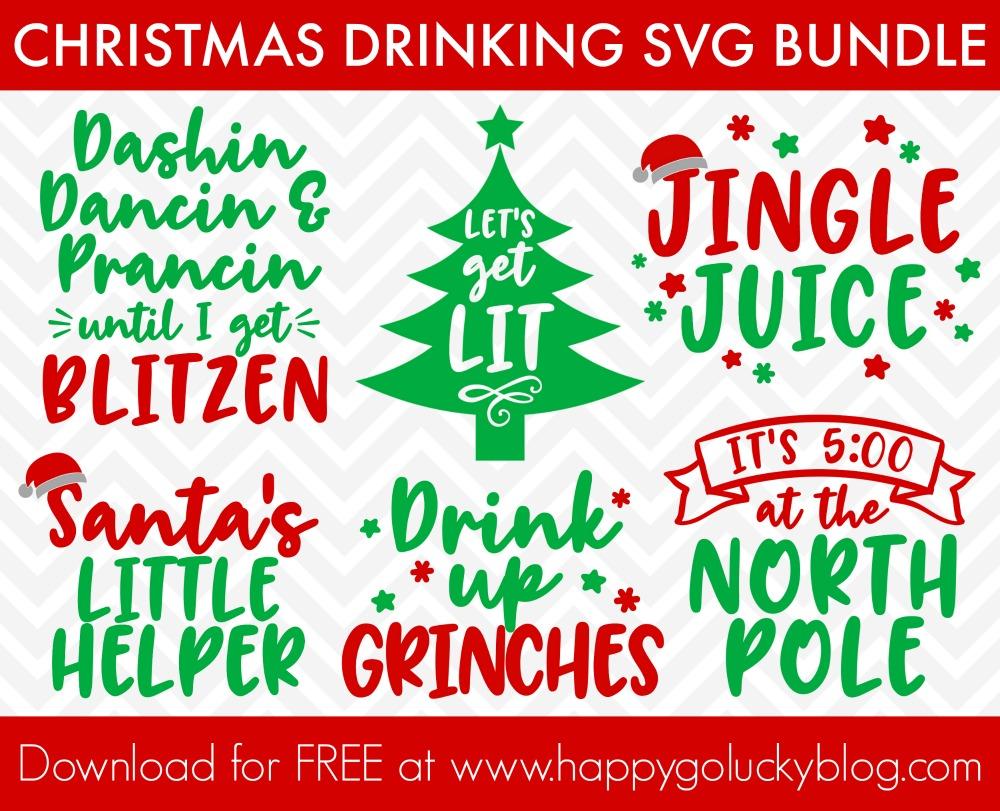 Christmas Drinking SVG Bundle