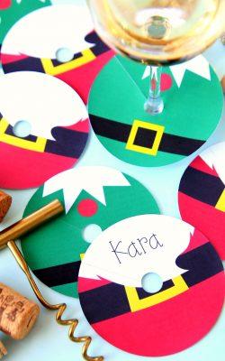 Christmas Wine Glass Tags