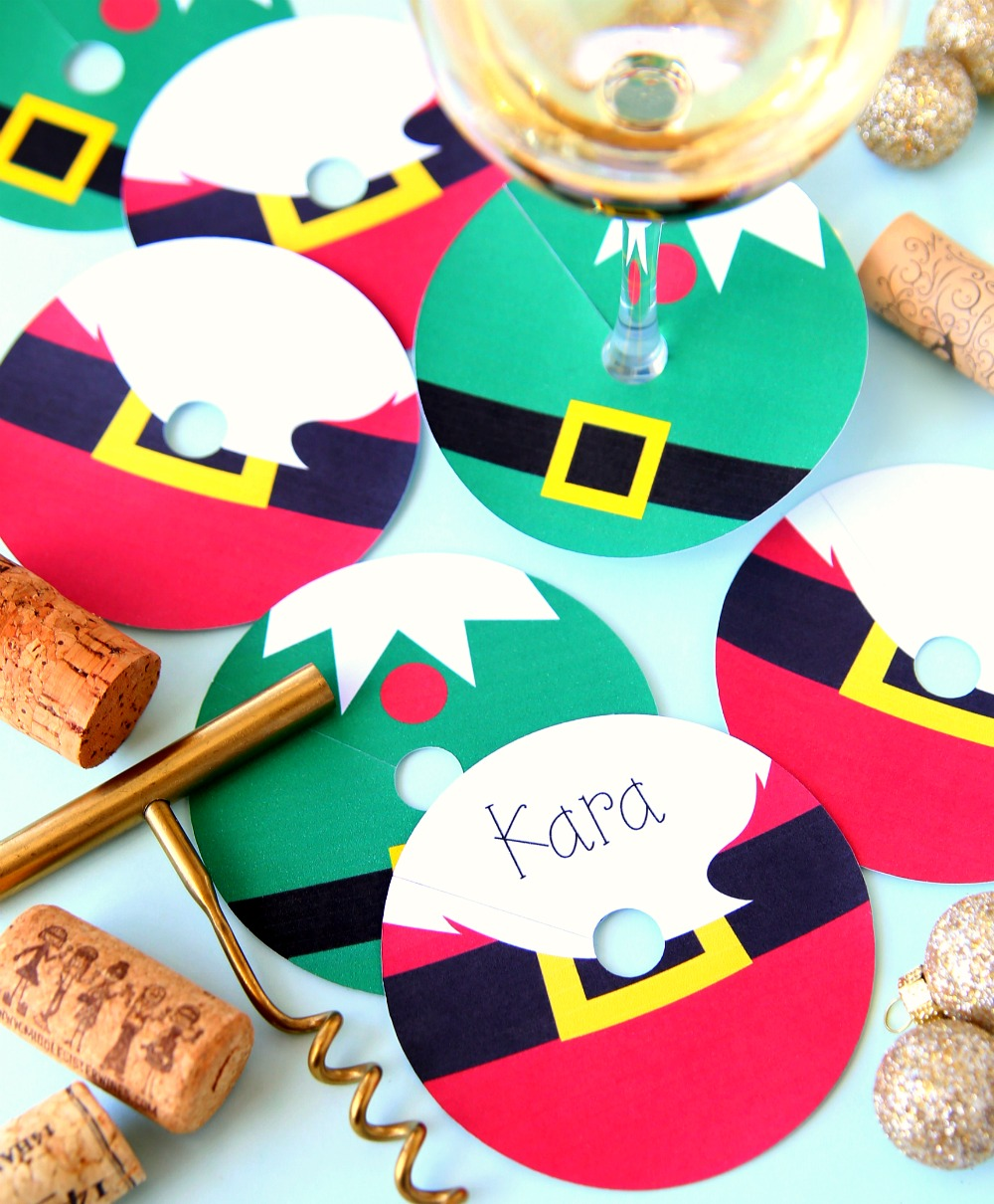 Christmas Wine Glass Tags