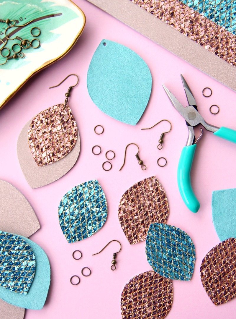 Leather Earrings Assembly