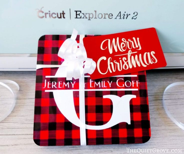 DIY Personalized Gift: Name Coasters Made Using a Cricut Explore Air 2 & Infusible Ink