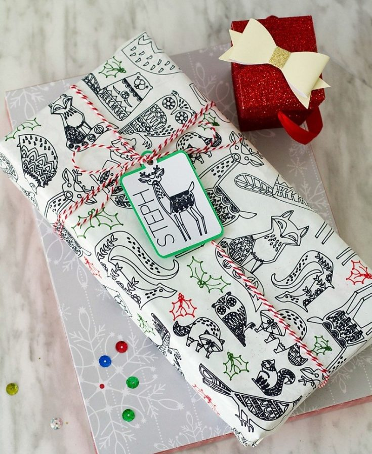 Coloring Gift Wrap Made Easy with Cricut Explore or Maker