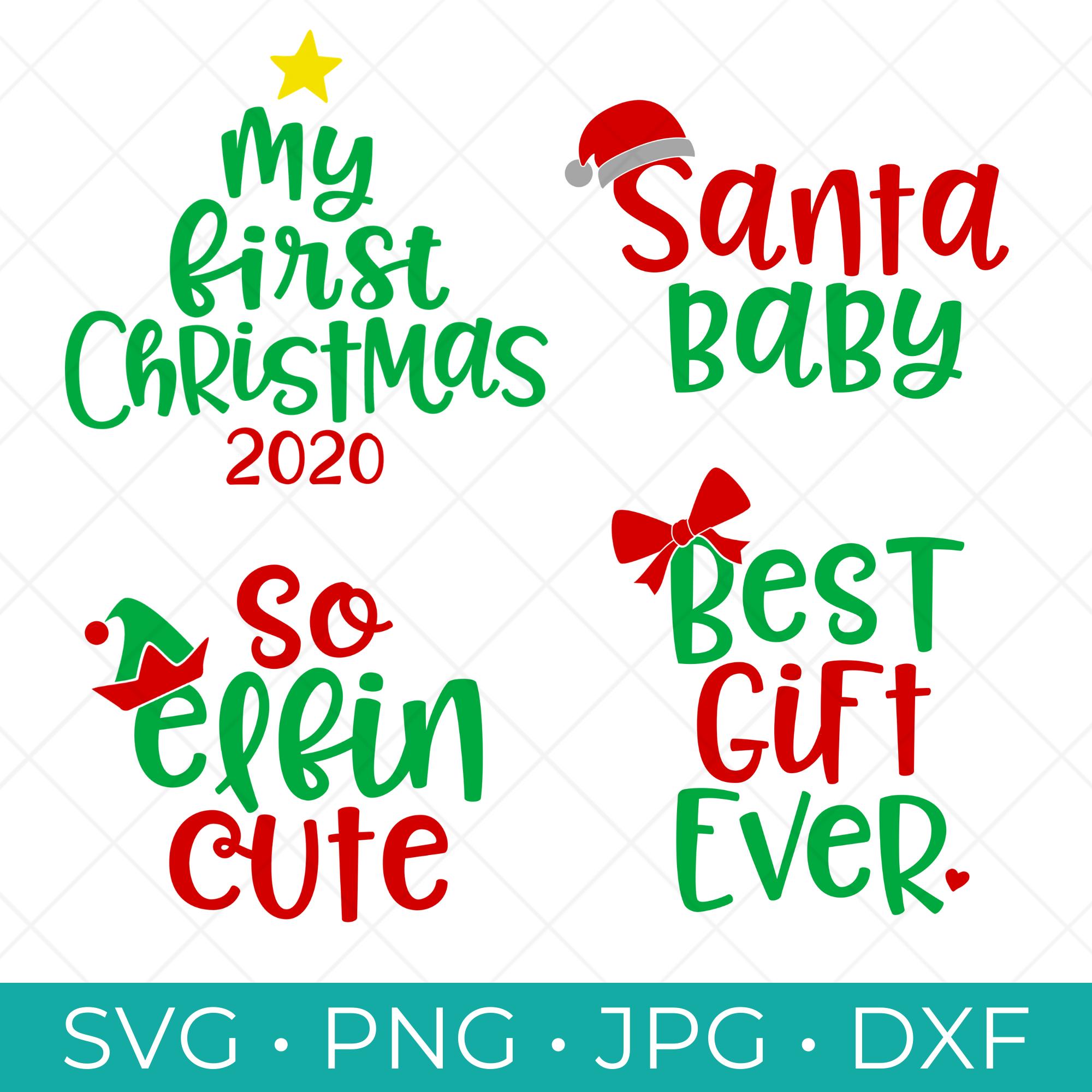 Babys First Christmas SVG Bundle