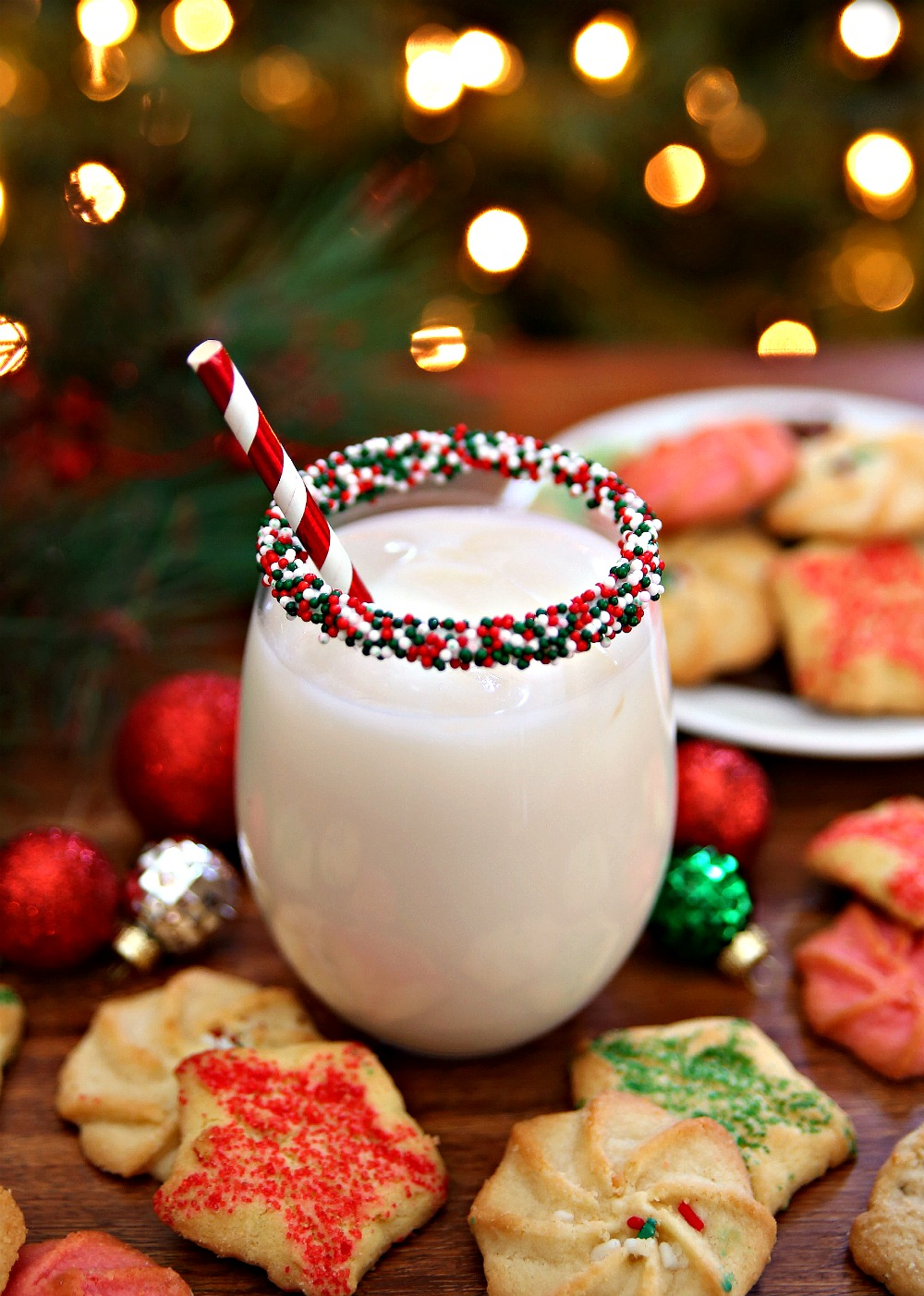 Christmas Cookie Cocktail with Sprinkles