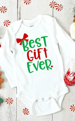 Baby's First Christmas SVG on Onesie