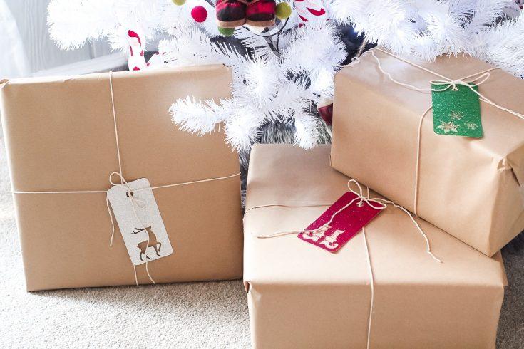 DIY Glitter Christmas Gift Tags