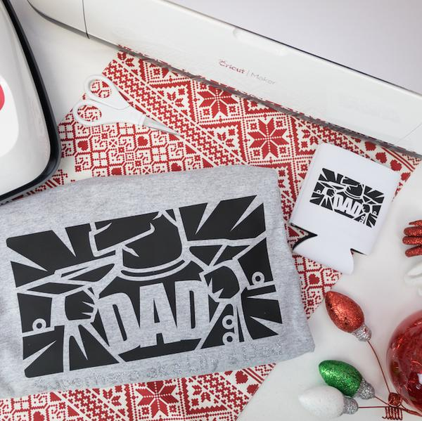 Cricut Personalized T-shirt & Koozie for Dad