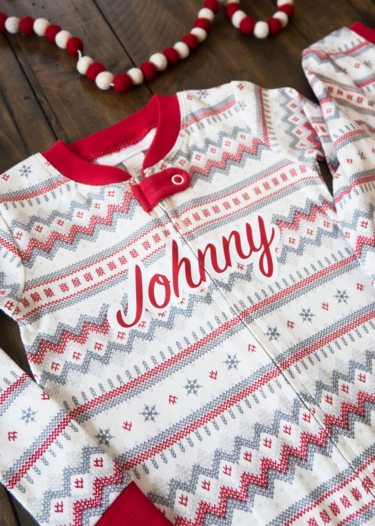 How To Personalize Your Pajamas with Cricut