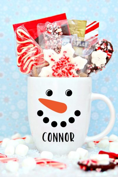 Personalized Snowman Mug with Cricut