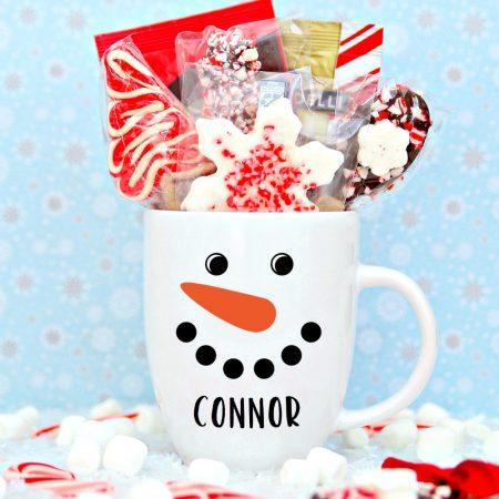 Personalized Snowman Mug with Cricut