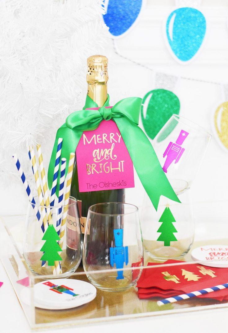 Christmas Hostess Gift Ideas - Cricut Personalized