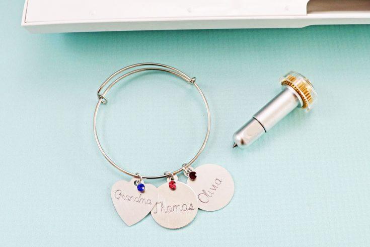 Engraved Charm Bracelet | Cricut Maker Engraving Tip