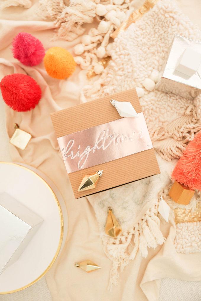 DIY Gift Wrap with Debossed Foil
