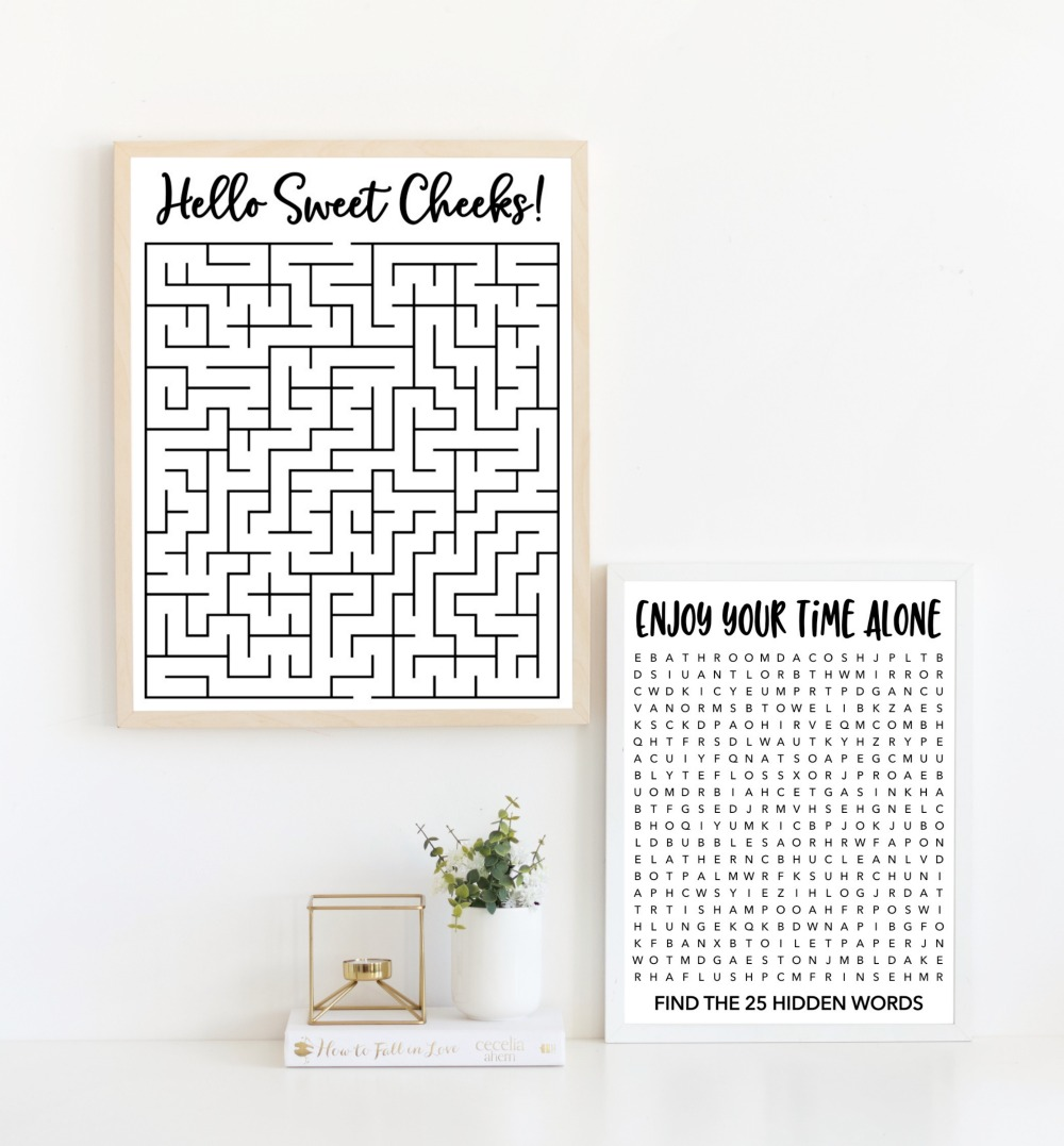 Bathroom Puzzles Free Printables