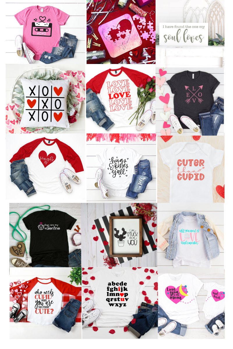 Valentine's Day SVG Cut File Collection