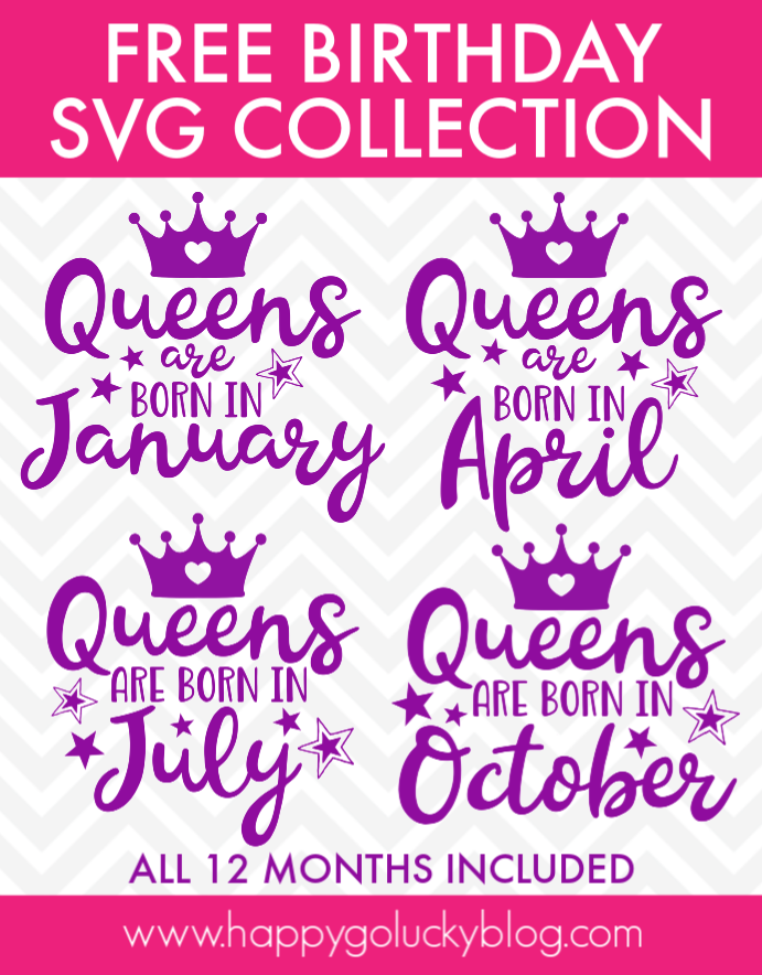 Birthday Queen SVG Collection