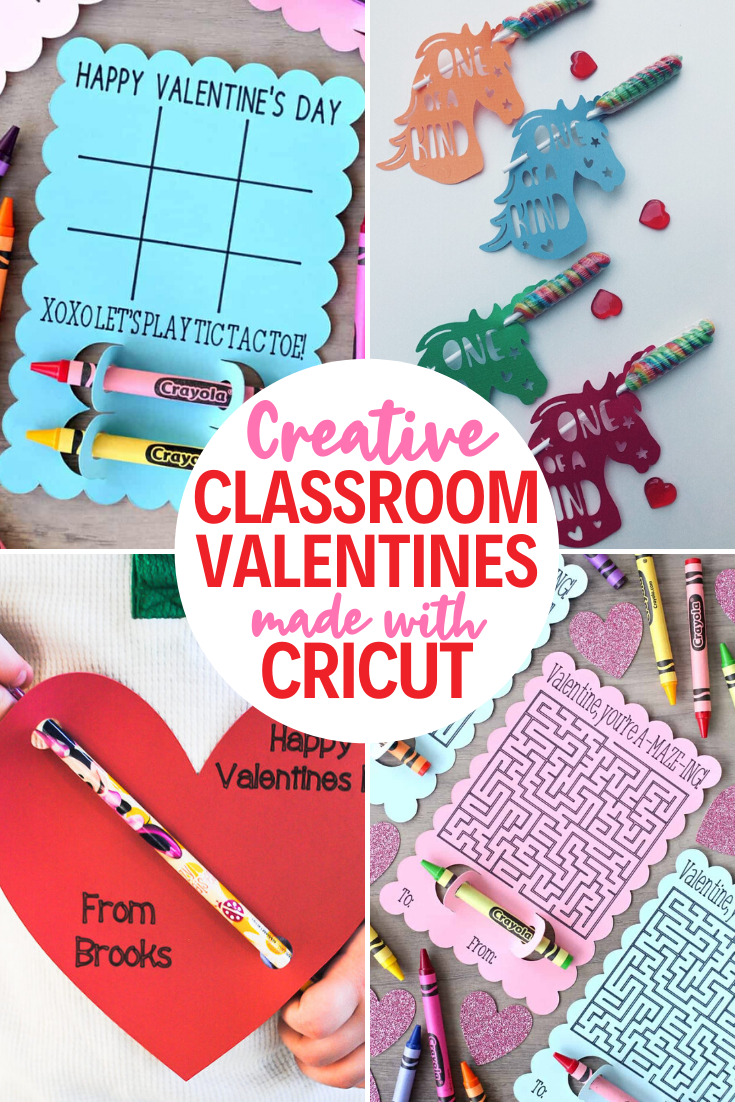 Classroom Valentines made with Cricut