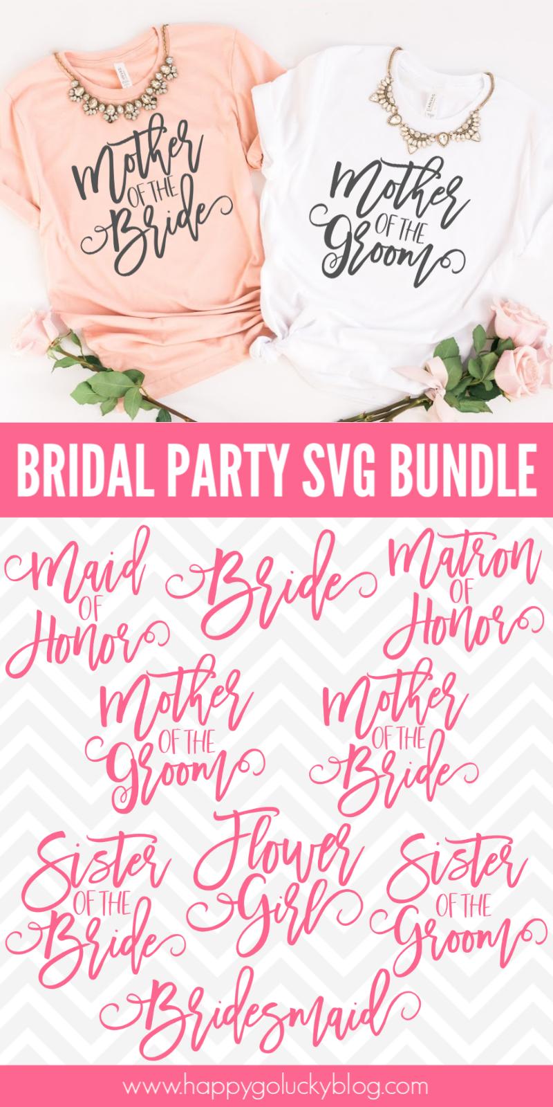 Free Bridal Party SVG Bundle