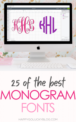 The Best Monogram Fonts