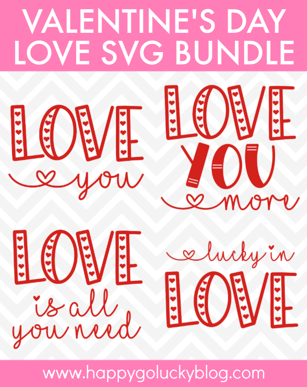 Free Valentine's Day Love SVG Bundle