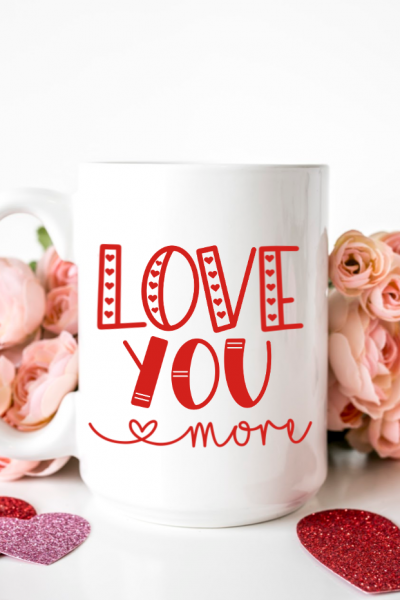 Valentine's Day Love SVG Bundle on Blank Mug