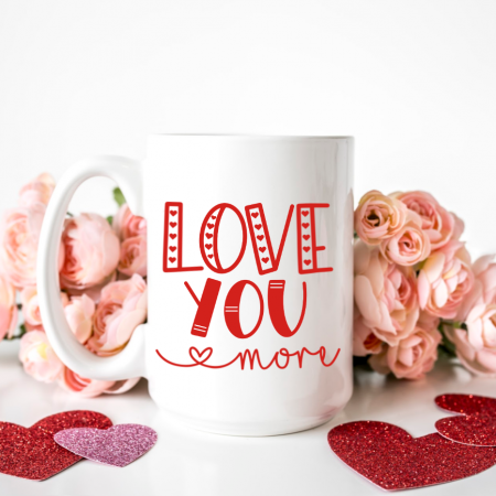 Valentine's Day Love SVG Bundle on Blank Mug