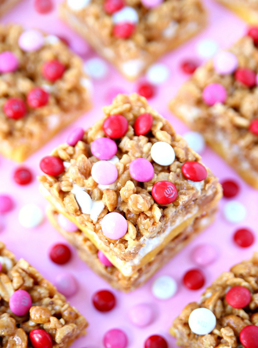 Valentine's Day PayDay Bars Recipe