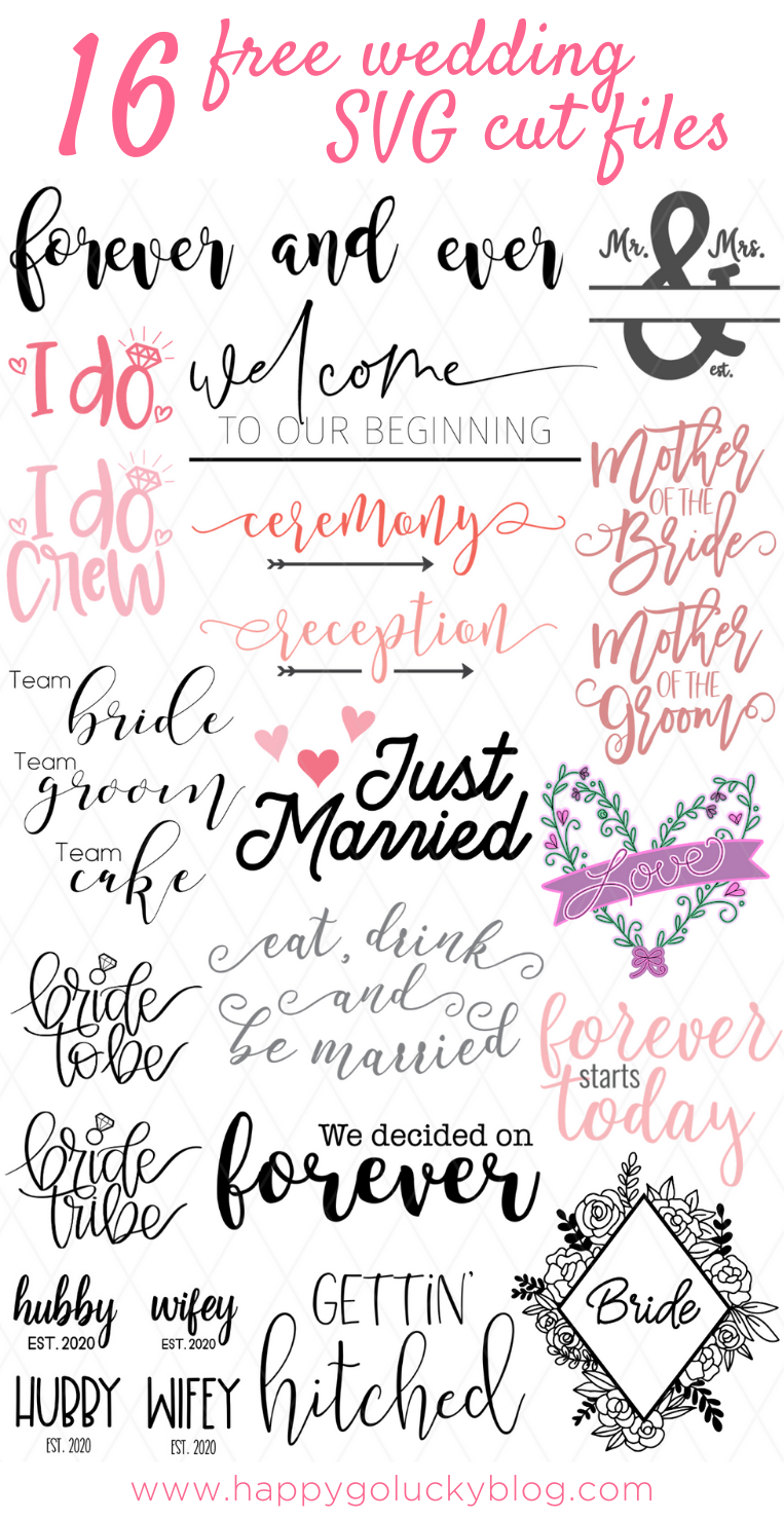 16 Free Wedding SVG Cut Files