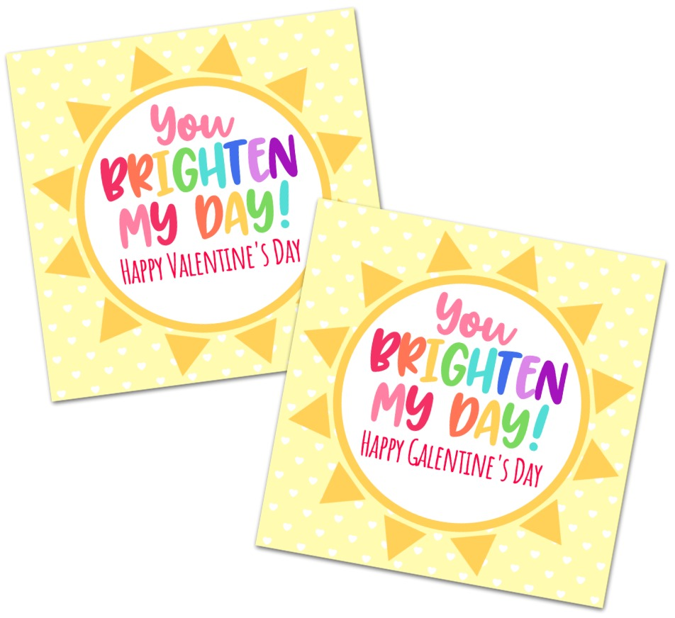 You Brighten My Day Gift Tags Free Printable