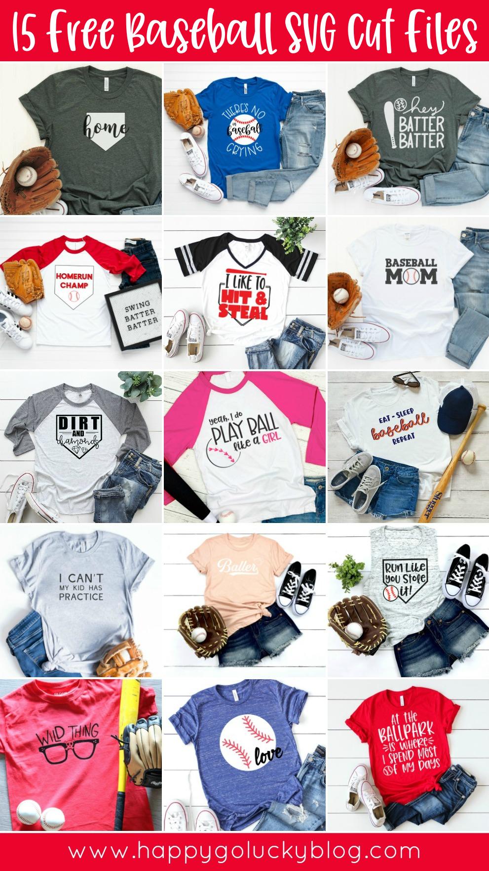15 Free Baseball SVG Cut Files