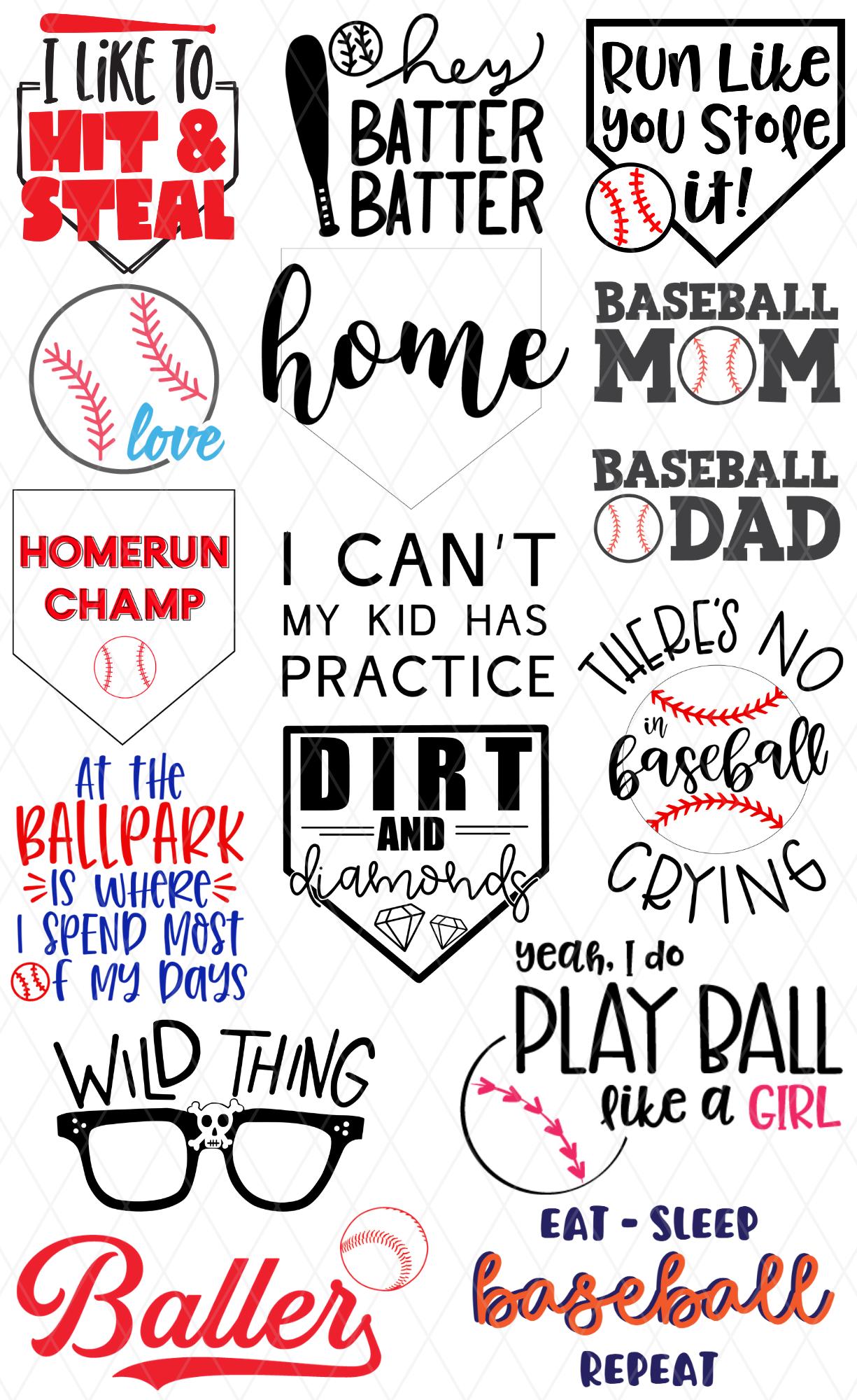 Free Baseball SVG Bundle