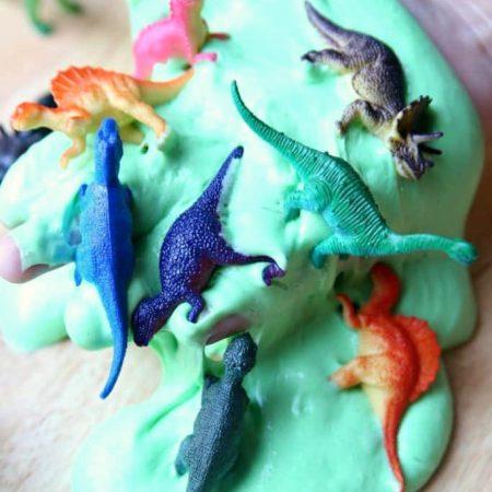 Homemade Dinosaur Fluffy Slime Tutorial
