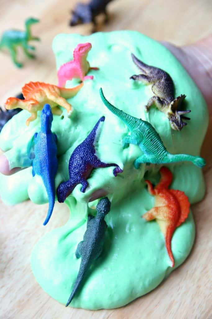 Homemade Dinosaur Fluffy Slime Tutorial