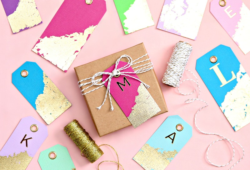 Personalized Gold Leaf Gift Tags